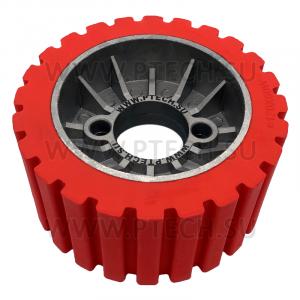 Ролик с резиновым покрытиемдля четырехсторонних станков моделей