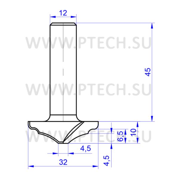 Концевая фрезадля деревообработки и мебельного производства - ПРОМТЕХКОМПЛЕКТ