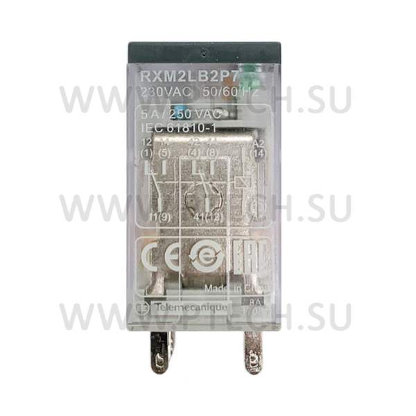 Реле RXM2LB2P7 230VAC Schneider - ПРОМТЕХКОМПЛЕКТ