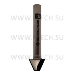 Фреза 5210 алмазная концевая V-образная с полкой 50 градусов - ПРОМТЕХКОМПЛЕКТ