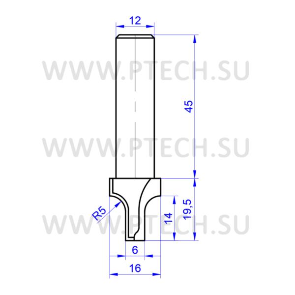 Фреза алмазная концевого типа филенка для чпу станка для работы с фасадами из материала мдф - ПРОМТЕХКОМПЛЕКТ