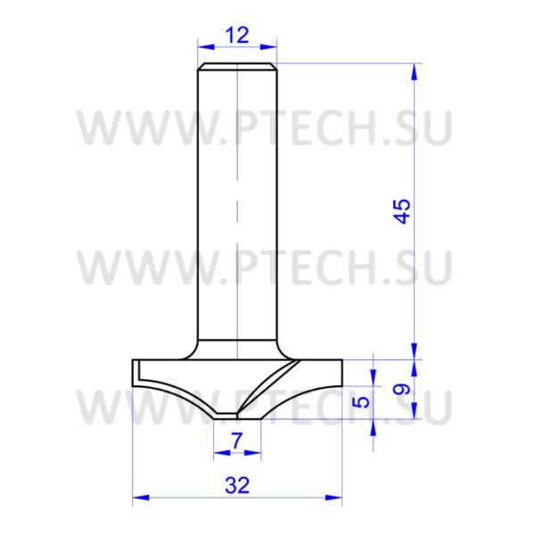 Концевая фреза твердосплавного типа 950 филенка для ЧПУ станка для обработки фасада из материала МДФ - ПРОМТЕХКОМПЛЕКТ