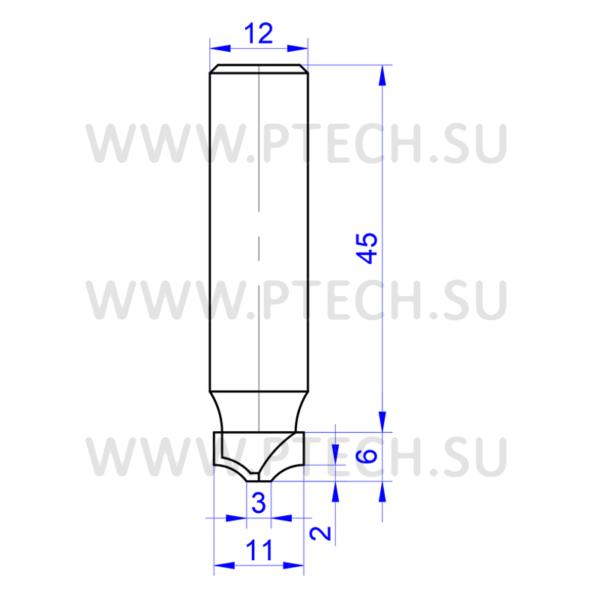 Концевая фреза твердосплавного типа 4535 филенка для ЧПУ станка для обработки фасада из материала МДФ - ПРОМТЕХКОМПЛЕКТ