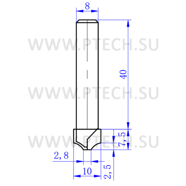 Концевая алмазная фреза филенка для станка с чпу для работы с фасадами из мдф 4900 - ПРОМТЕХКОМПЛЕКТ