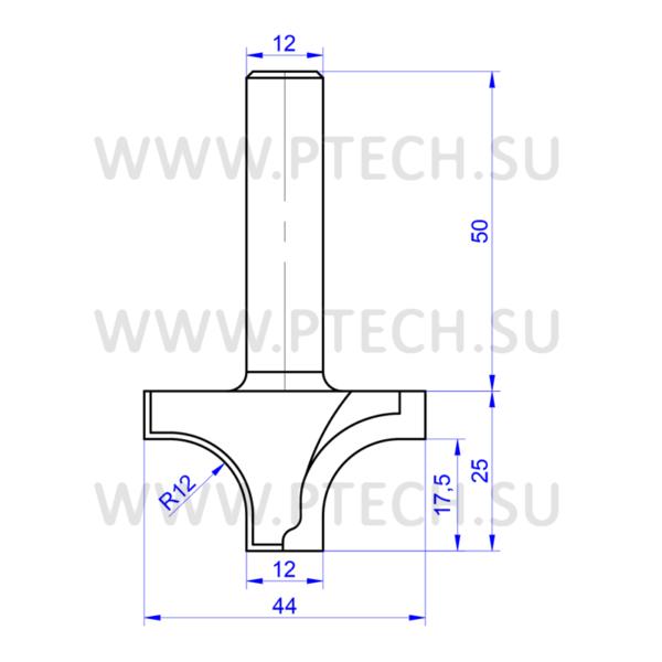 Концевая фреза алмазного типа филенка для станка с чпу для обработки фасадов из мдф ФК 0945 - ПРОМТЕХКОМПЛЕКТ