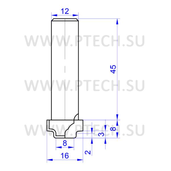 Концевая алмазная фреза филенка для станка с чпу для работы с фасадами из мдф 4910 - ПРОМТЕХКОМПЛЕКТ