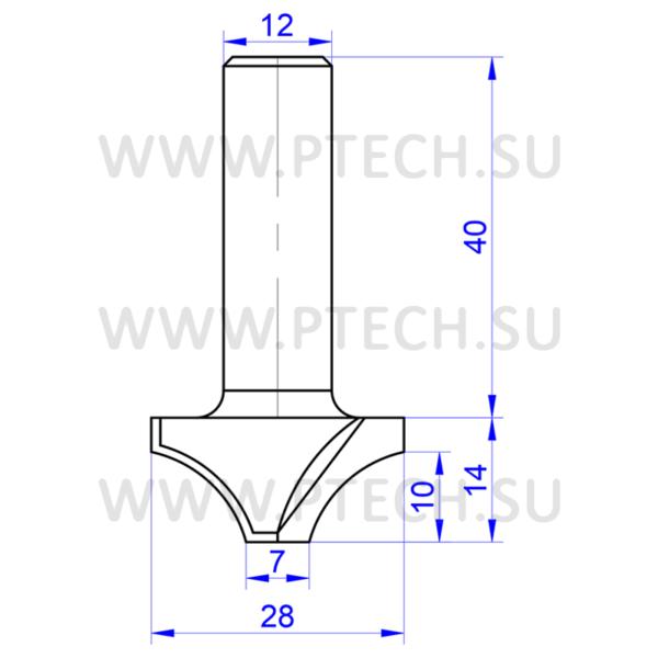 Фреза концевая ТСТ радиусная 740 для ЧПУ - ПРОМТЕХКОМПЛЕКТ