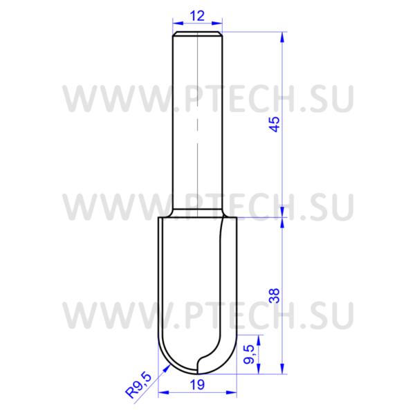 Концевая алмазная фреза филенка для станка с чпу для работы с фасадами из мдф 3980 - ПРОМТЕХКОМПЛЕКТ