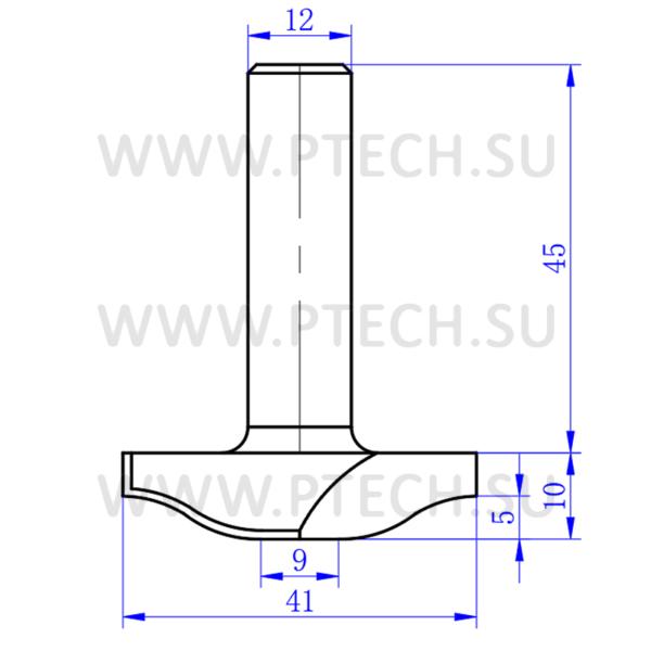 Концевая фреза алмазного типа филенка для ЧПУ станка для обработки фасада из материала МДФ 4010 - ПРОМТЕХКОМПЛЕКТ