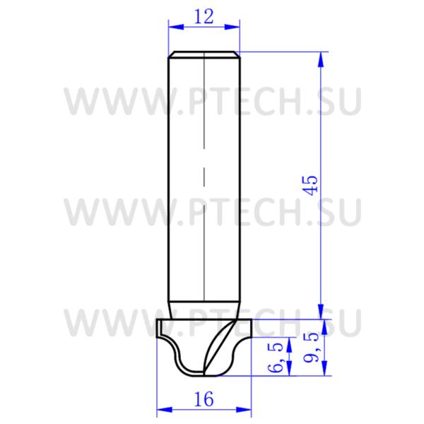 Концевая фреза алмазного типа филенка для ЧПУ станка для обработки фасада из материала МДФ 5400 - ПРОМТЕХКОМПЛЕКТ