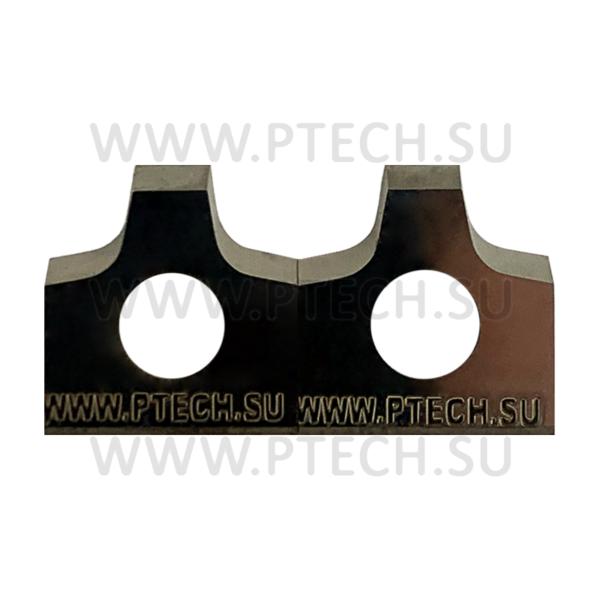 Радиусные ТСТ сменные пластины 12х13х2 R=3 c режущими радиусами и нижней фаской - ПРОМТЕХКОМПЛЕКТ