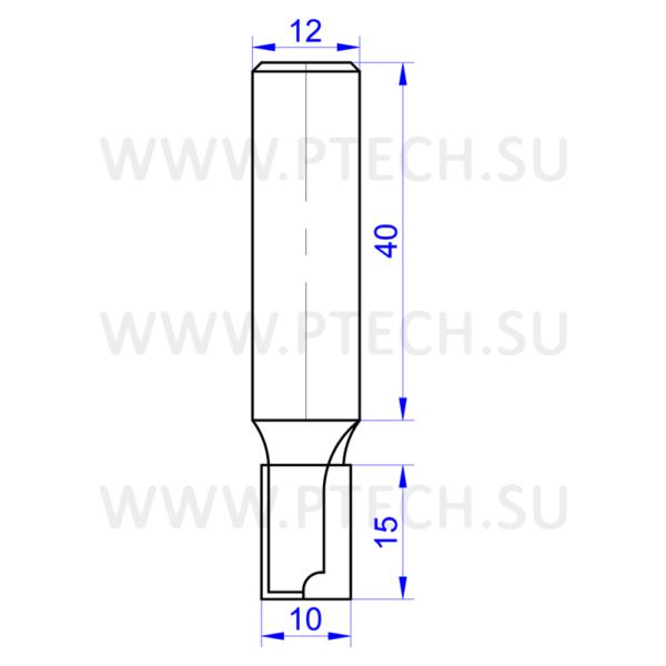 Алмазная фреза 13550 (для работы с МДФ, ЛДСП, деревом, пластиком) пазовая прямой формы для фрезера ручного - ПРОМТЕХКОМПЛЕКТ