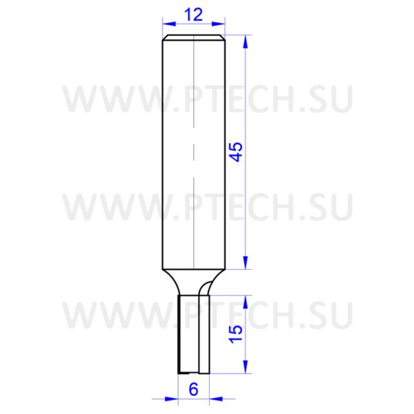 Алмазная фреза 13620 прямой формы пазового типа- ПРОМТЕХКОМПЛЕКТ