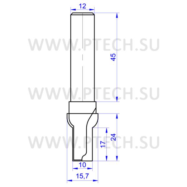 Концевая фреза 0216 твердосплавного типа филенка для ЧПУ станка для обработки фасада из материала МДФ - ПРОМТЕХКОМПЛЕКТ